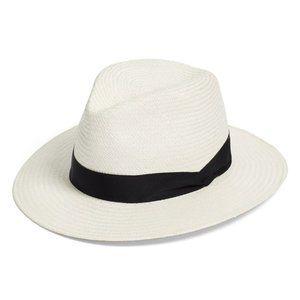 Aqua Bloomingdale's Panama Straw Hat